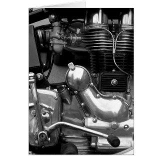 Motorcycle Engine II - Vertical Greeting Card