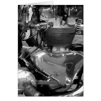 Motorcycle Engine - Vertical Greeting Card