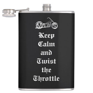Motorcycle Enthusiasts of the Western Suburbs Hip Flask