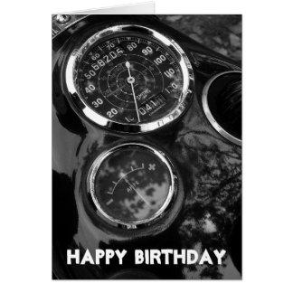 Motorcycle Gauges - Birthday Card