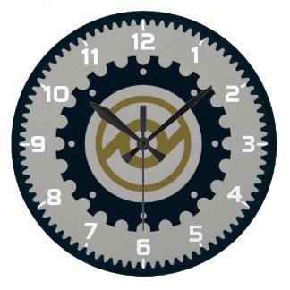 Motorcycle Gear Large Clock