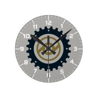 Motorcycle Gear Round Clock