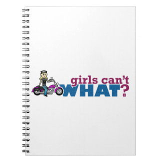 Motorcycle Girl Notebook