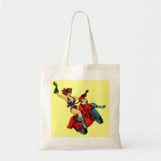 Motorcycle Girl Tote Bag