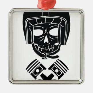 Motorcycle Helmet Skull Metal Ornament