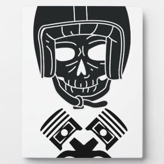 Motorcycle Helmet Skull Plaque