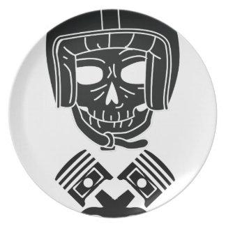 Motorcycle Helmet Skull Plate
