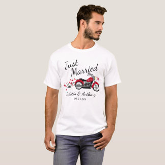 Motorcycle Just Married T-Shirt