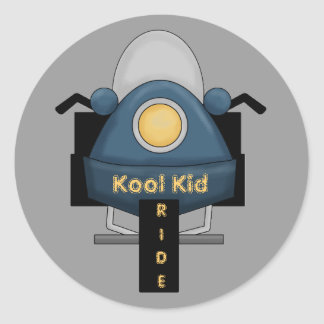 Motorcycle Kool Kid Ride Fun Stickers