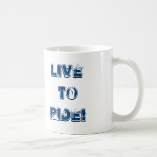 Motorcycle, Live to Ride! Classic White Coffee Mug