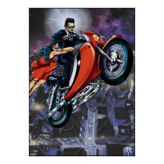 Motorcycle Man Poster