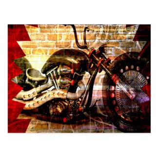 Motorcycle Mania Postcard