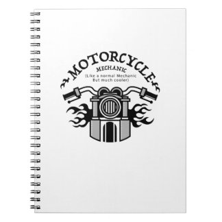 Motorcycle Mechanic Gift Bike Mechanic Biker Notebooks