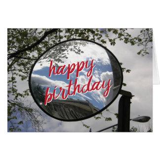 Motorcycle Mirror Biker Birthday Card