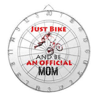 motorcycle mom dartboard