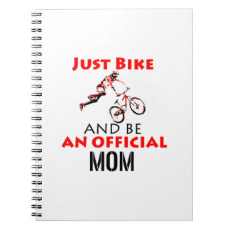 motorcycle mom spiral notebook