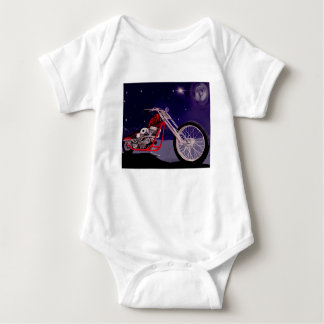 Motorcycle Moonlight Art Baby Bodysuit