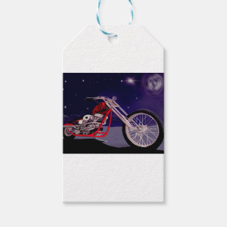 Motorcycle Moonlight Art Gift Tags