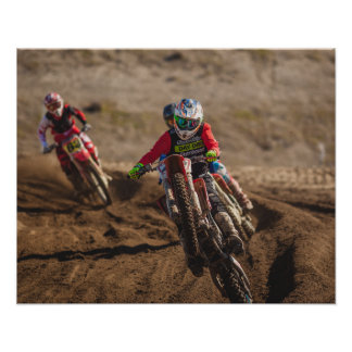 Motorcycle Motocross Poster