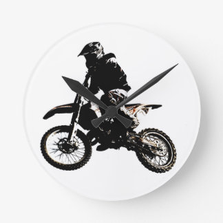 Motorcycle Motocross Round Clock