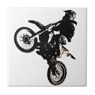 Motorcycle Motocross Small Square Tile