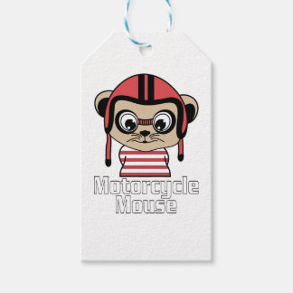 Motorcycle Mouse, rate cartoon vintage design Gift Tags