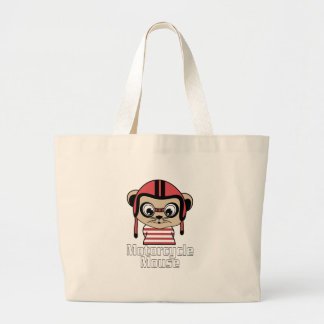 Motorcycle Mouse, rate cartoon vintage design Large Tote Bag