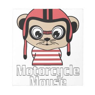 Motorcycle Mouse, rate cartoon vintage design Notepad