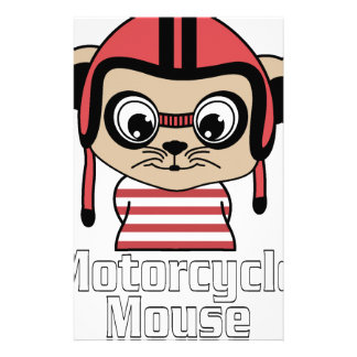 Motorcycle Mouse, rate cartoon vintage design Stationery