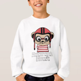 Motorcycle Mouse, rate cartoon vintage design Sweatshirt