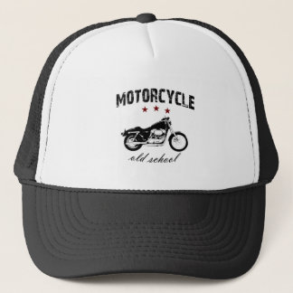 Motorcycle old school trucker hat