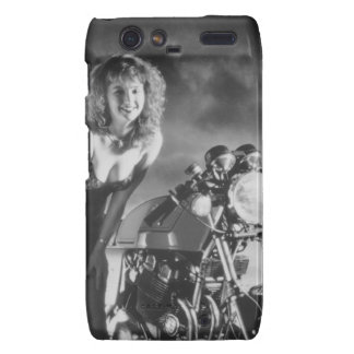 Motorcycle Pinup Girl Motorola Droid RAZR Covers