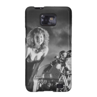 Motorcycle Pinup Girl Galaxy SII Case