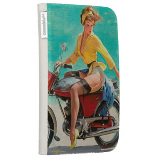 Motorcycle Pinup Girl - Retro Pinup Art Kindle 3 Cases