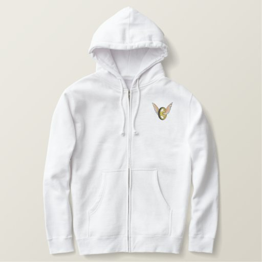 Motorcycle Police Logo Embroidered Thermal Hoodie