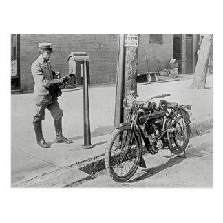 Motorcycle Postman, 1909 Postcard