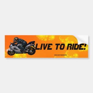 Motorcycle Power Biker Transport Gift Bumper Sticker