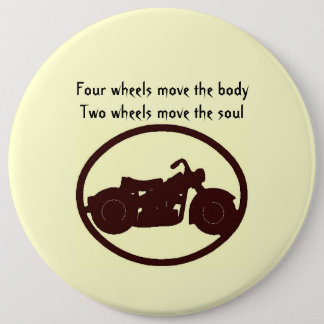 Motorcycle quote 6 cm round badge