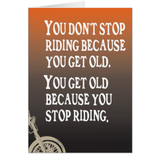 Motorcycle Quote Biker Birthday Card