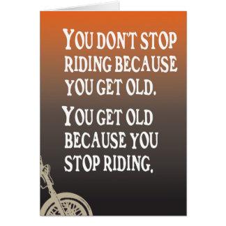 Motorcycle Quote Biker Birthday Card