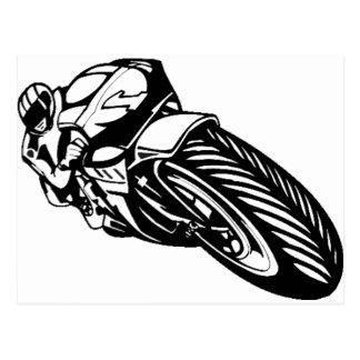 Motorcycle Race Postcard