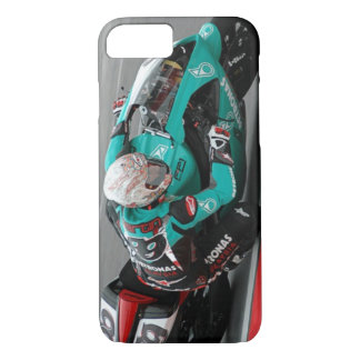 Motorcycle Race Track Turquoise Cell Phone Case