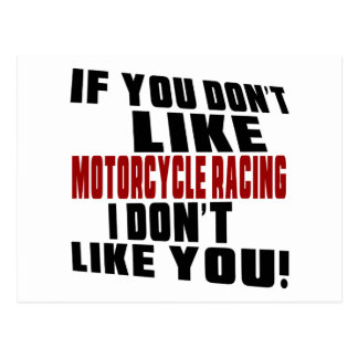 MOTORCYCLE RACING Don't Like Postcard