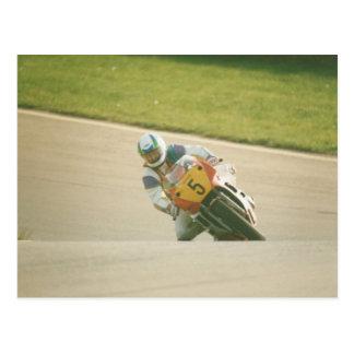 Motorcycle Racing Postcard