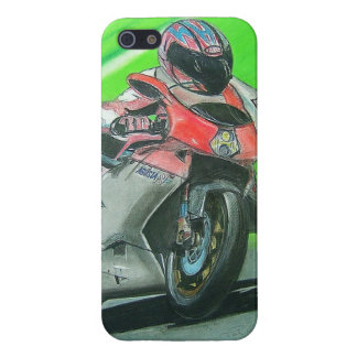 Motorcycle racing themed iPhone case