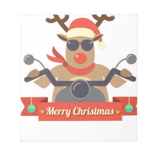 motorcycle  reindeer notepad