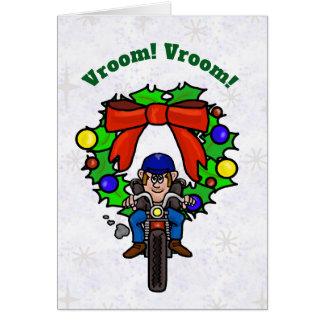Motorcycle Rider Christmas Card