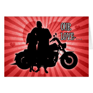 Motorcycle Rider Valentine's Day Card