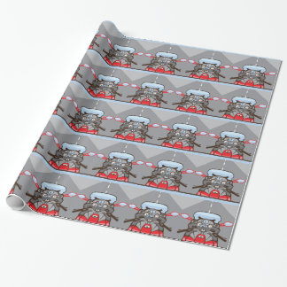 Motorcycle Riders View Color Road ahead Wrapping Paper