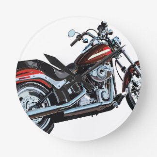 motorcycle round clock